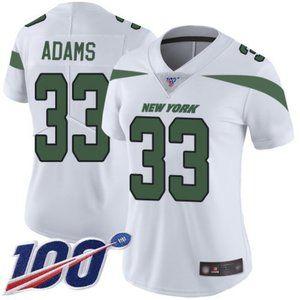 Women Jets #33 Jamal Adams 100th Season Jersey